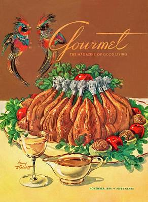 A Gourmet Cover Of Chicken Poster by Henry Stahlhut