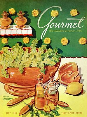 A Gourmet Cover Of Dandelion Salad Poster by Henry Stahlhut