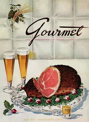 A Gourmet Cover Of Ham Poster by Henry Stahlhut