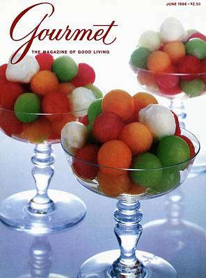 A Gourmet Cover Of Melon Balls Poster by Romulo Yanes