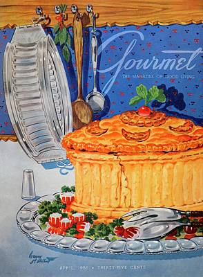 A Gourmet Cover Of Pate En Croute Poster by Henry Stahlhut