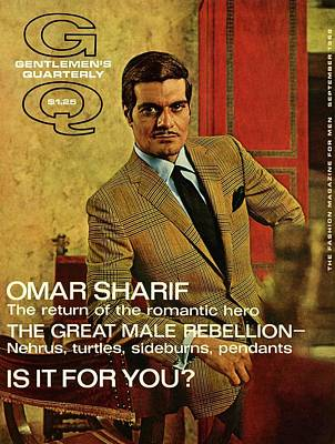 A Gq Cover Of Omar Sharif Poster