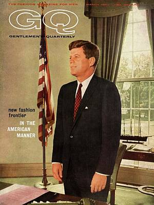 A Gq Cover Of President John F. Kennedy Poster by David Drew Zingg