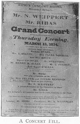 A Grand Concert Poster by British Library