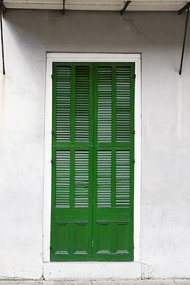 A Green Door In New Orleans Poster
