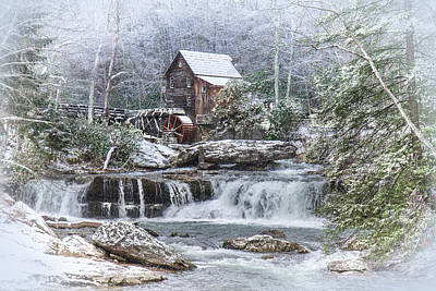 A Gristmill Christmas Poster by Mary Almond
