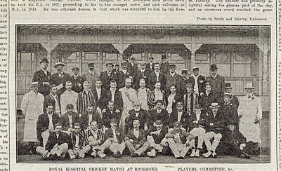 A Group Of Cricketers Poster by British Library