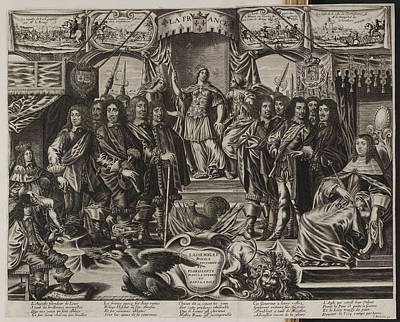 A Group Of Noblemen With An Allegorical F Poster by British Library