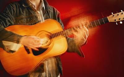 A Guitar Player Poster