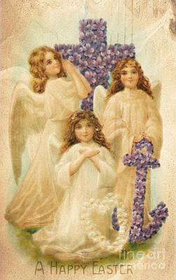 A Happy Easter 1908 German Postcard Poster