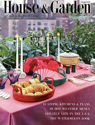 A House And Garden Cover Of Al Fresco Dining Poster