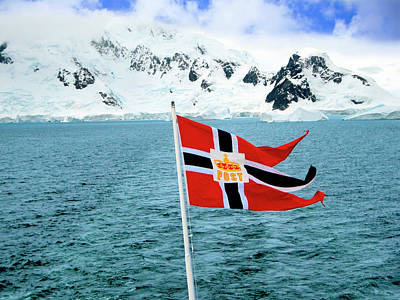 A Hurtigruten Cruise Ship Postal Poster by Miva Stock