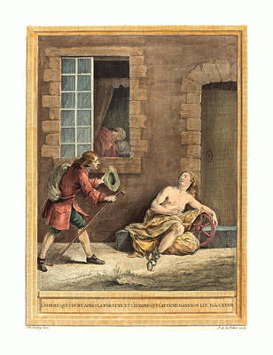 A.-j. De Fehrt After Jean-baptiste Oudry French Poster by English School