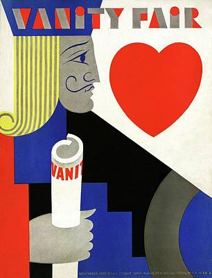 A Jack Of Hearts Poster by M. F. Agha