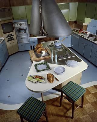 A Kitchen Designed By Ralph & Jane Bonnell Poster by George De Gennaro