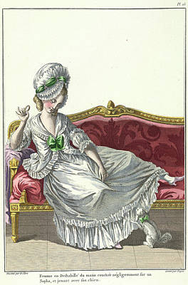 A Lady In Morning Deshabille Poster by British Library