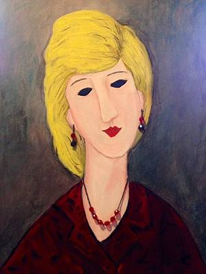 A Lady With Jewelry Poster by Sharon Lee Samyn