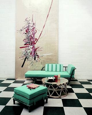A Lanai Room With Ficks Reed Co Furniture Poster by Richard Jeffery