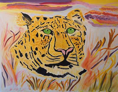A Leopard's Gaze Poster by Meryl Goudey