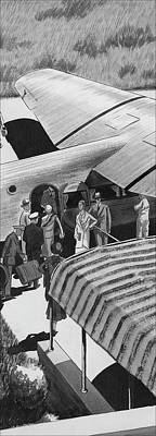 A Lindbergh Airplane In The Arizona Desert Poster by Artist Unknown