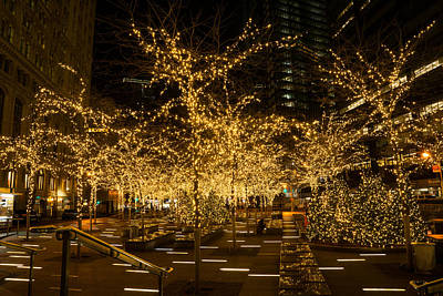 A Little Golden Garden In The Heart Of Manhattan New York City Poster by Georgia Mizuleva