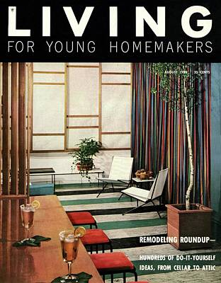 A Living Room With Flor-ever Tiles Poster