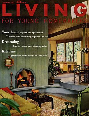 A Living Room With Sherwin-williams Wood-paneling Poster by Bill Margerin