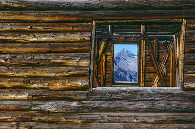 A Log Cabin In Telluride, Colorado Poster by Karen Kasmauski