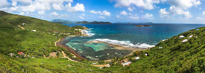 John's Folly Bay From Tradewinds Cottage In St. John Usvi Poster