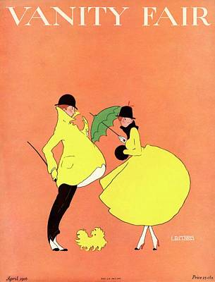 A Magazine Cover For Vanity Fair Of A Couple Poster