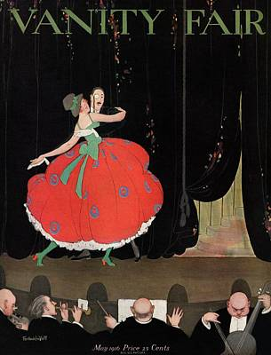 A Magazine Cover For Vanity Fair Of A Couple Poster by Thelma Cudlipp