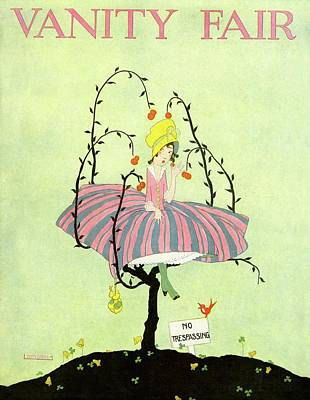 A Magazine Cover For Vanity Fair Of A Woman Poster by L. A. Morris