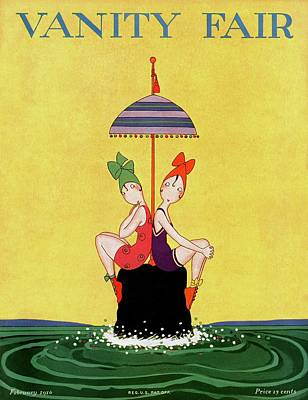 A Magazine Cover For Vanity Fair Of Two Women Poster by A. H. Fish