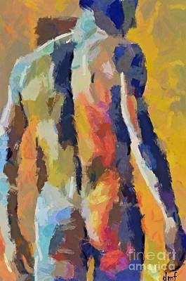A Male Torso Poster by Dragica  Micki Fortuna