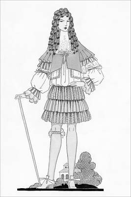 A Man Modeling Clothing From The Court Of King Poster