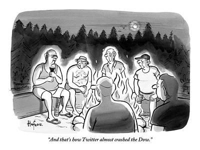 A Man Tells A Story Around A Campfire Poster