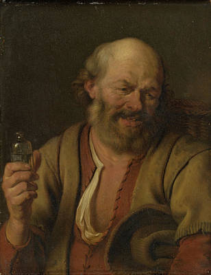A Man With A Little Drink Bottle, Ary De Vois Poster