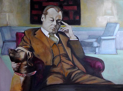 Poster featuring the painting A Man's Best Friend by Irena Mohr
