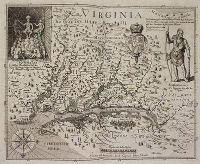 A Map Of Virginia Poster