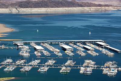 A Marina On Lake Mead Poster by Ashley Cooper
