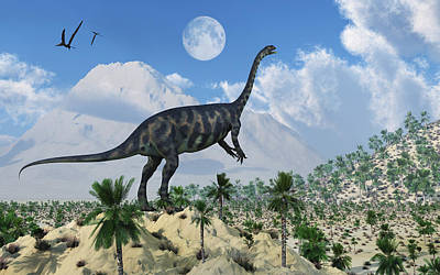 A Massospondylus Dinosaur Poster