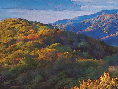 a Maxfield Parrish Autumn in the Smokies Poster by Philip White