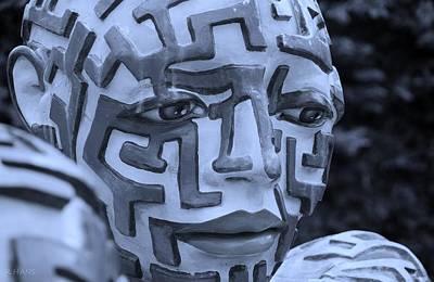 A Maze Ing Man 10 Cyan Poster