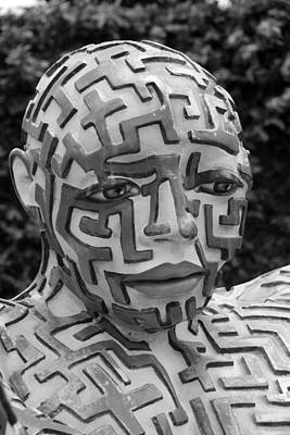 A Maze Ing Man 11 Black And White Poster