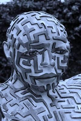 A Maze Ing Man 11 Cyan Poster