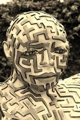 A Maze Ing Man 11 Sepia Poster