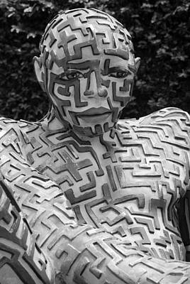 A Maze Ing Man 12 Black And White Poster