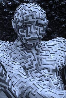 A Maze Ing Man 12 Cyan Poster