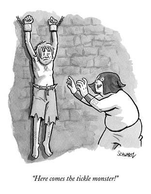 A Medieval Torturer Approaches A Hanging Poster by Benjamin Schwartz