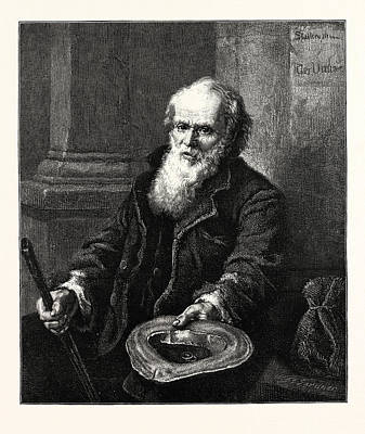 A Mendicant, 1873 Poster by Eberhard Stammel, Eberhard (1833-1906), German